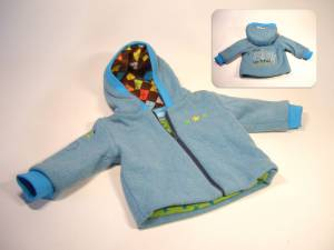 "gefütterte Strickjacke ""The sky is the limit"""