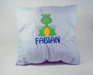 "Kissen ""Fabian mit Drache"", 50x50 cm"