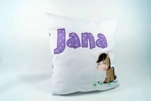 """Kissen """"Jana mit Pferd"""", 40x40 cm"""