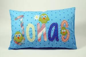 """Kissen """"Jonas mit Vögeln"""", 25x40 cm"""