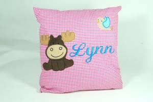 "Kissen ""Lynn mit Elch"", 40x40 cm"