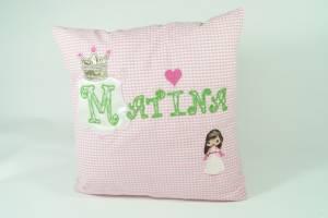 """Kissen """"Matina mit Prinzessin"""", 40x40 cm"""