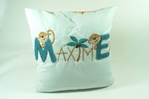 "Kissen ""Maxime mit Affen"", 40x40 cm"