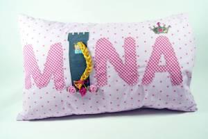 "Kissen ""Mina mit Rapunzel"", 40x60 cm"