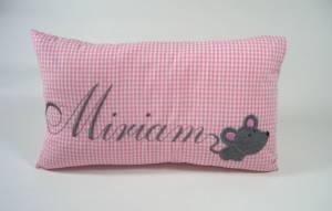 """Kissen """"Miriam mit Maus"""", 25x40 cm"""
