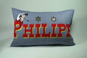 "Kissen ""Philipp mit Lucky Luke"", 40x60 cm"