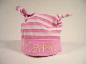 """geringelte Knotenmütze """"Marie"""""""