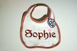 """Lätzchen """"Sophie"""" mit Brezel-Verschluss"""