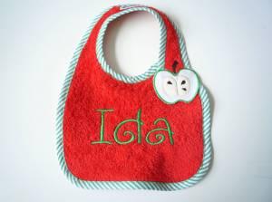 """Lätzchen """"Ida"""" mit Apfel-Verschluss"""