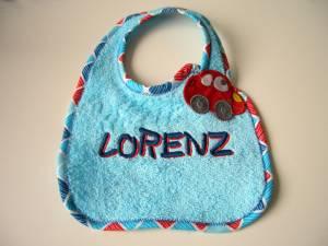 """Lätzchen """"Lorenz"""" mit Auto-Verschluss"""