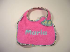 """Lätzchen """"Maria"""" mit Frosch-Verschluss"""