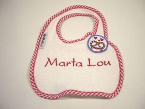 "Lätzchen ""Marta Lou"" mit Brezel-Verschluss"