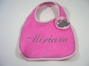 """Lätzchen """"Miriam"""" mit Maus-Verschluss"""