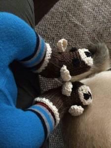Louis hat so schnell keine kalten Füße mehr, dank seiner Teddy-Booties.
