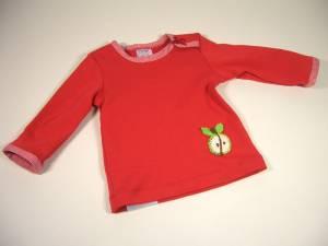 "Shirt mit Häkelapplikation ""Apfel"""