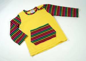 Ringel-Shirt mit Kängurutasche