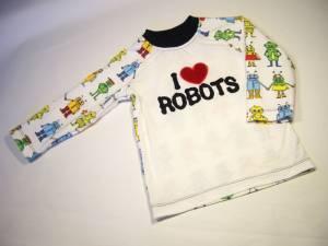"""Raglanshirt """"I ♥ Robots"""""""