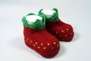 """Strickbooties """"Erdbeere"""""""