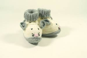 "Strickbooties ""Maus"""