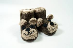 "Strickbooties ""Teddy"""