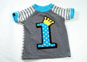 "Raglan-T-Shirt ""1. Geburtstag"""