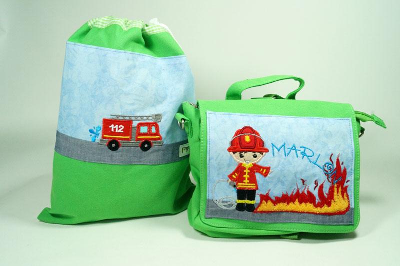 Rucksack und Schuhbeutel - Feuerwehr