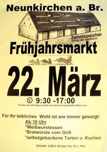 Flyer Fruehjahrsmarkt Neunkirchen