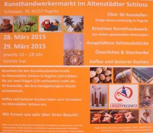 Flyer Kunsthandwerkermarkt Pegnitz