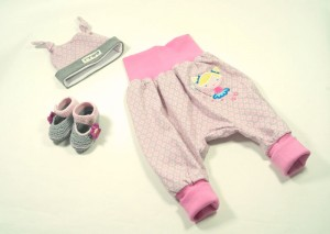 """Outfit """"rosa Blumen"""" mit Zahnfee"""